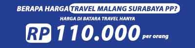 harga travel malang surabaya